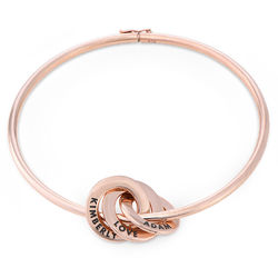 Russisk bangle-armbånd med runde charms i 18k rosegullbelegg produktbilde