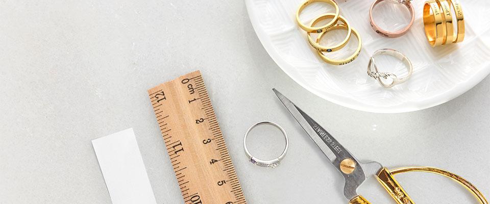 Finn din ring størrelse