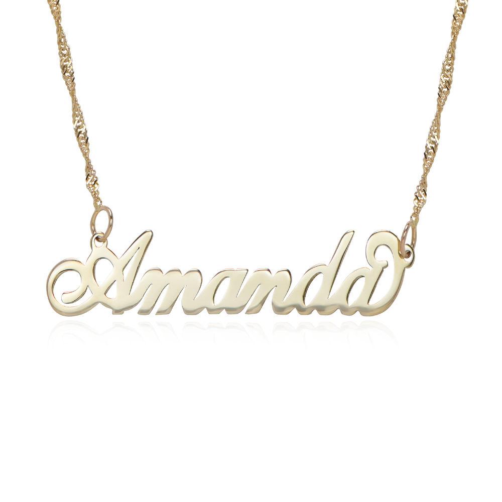 "Litet 14K Guld ""Carrie"" Modell Namnhalsband - 1"