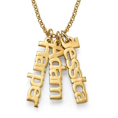 Vertikalt Namn halsband med Guldplätering