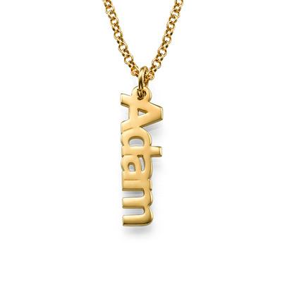 Vertikalt Namn halsband med Guldplätering - 1