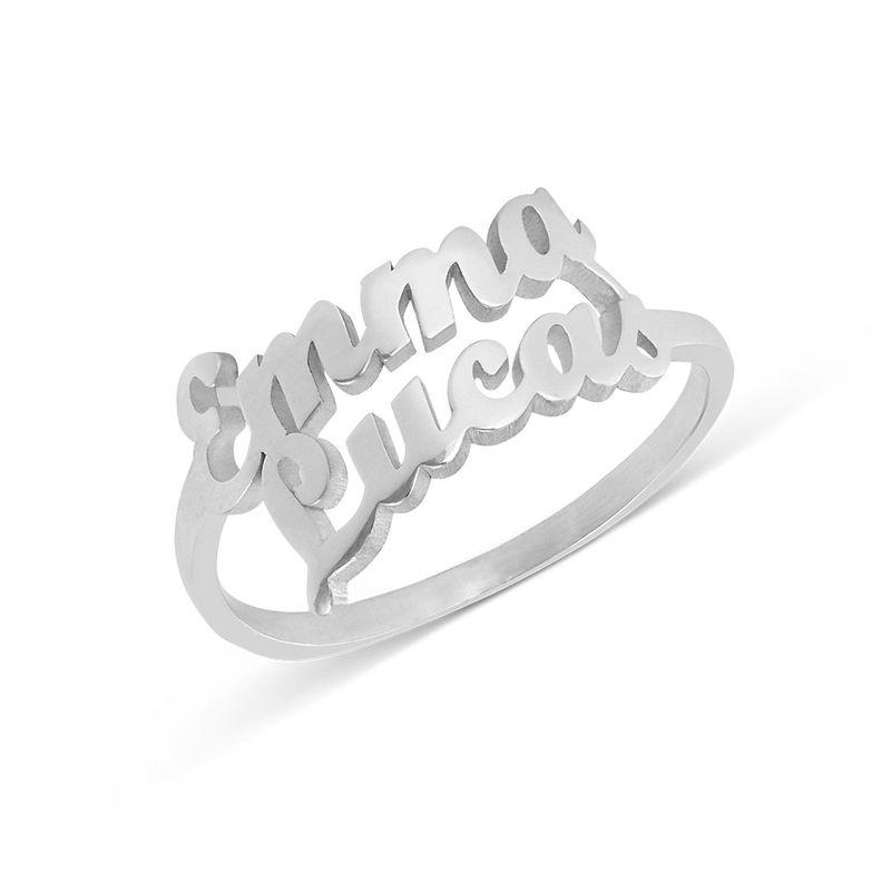Personlig ring i silver med två namn
