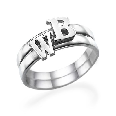 Initial Ring i Sterling Silver - 2