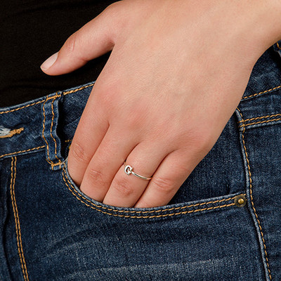 Initial Ring i Sterling Silver - 4