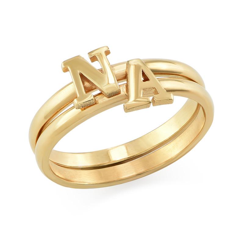 Initial Ring i 18K guldplätering - 2