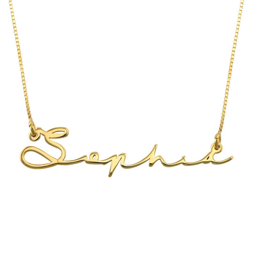 Namnhalsband med Signatur Stil i 14k Guld