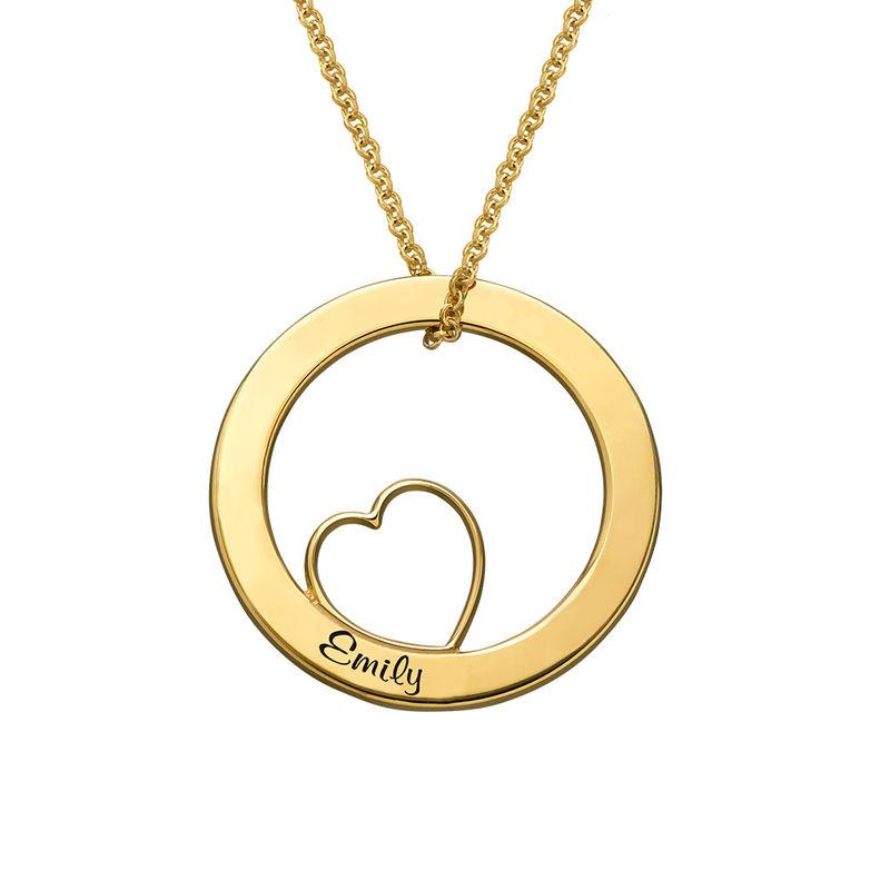 Kärlekcirkel halsband i 18k guldplätering - 2