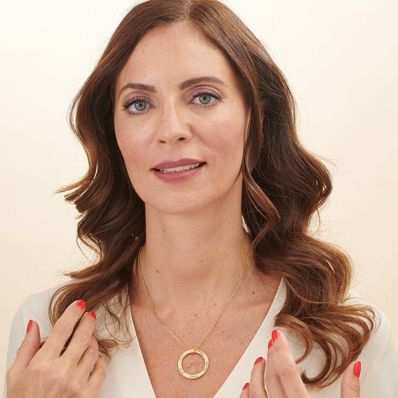 Kärlekcirkel halsband i 18k guldplätering - 3
