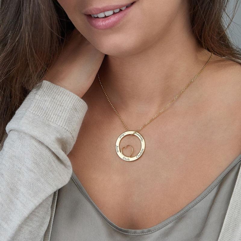 Kärlekcirkel halsband i 18k guldplätering - 6
