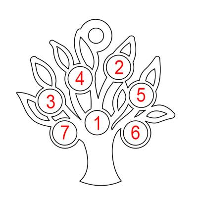 Personligt Familje Träd smycke - 2