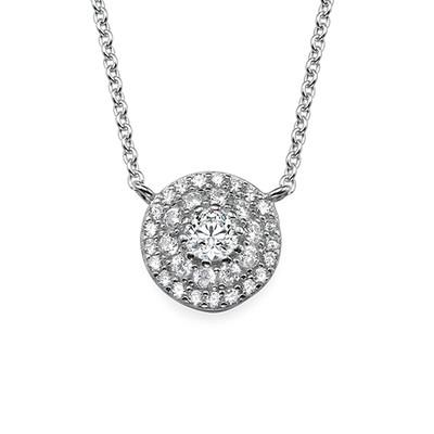 Runt smycke halsband med Cubic Zirconia