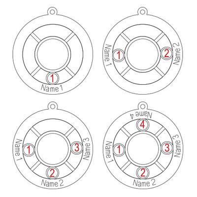 Personifierade Familje Cirkel Halsband med månadsstenar - 1