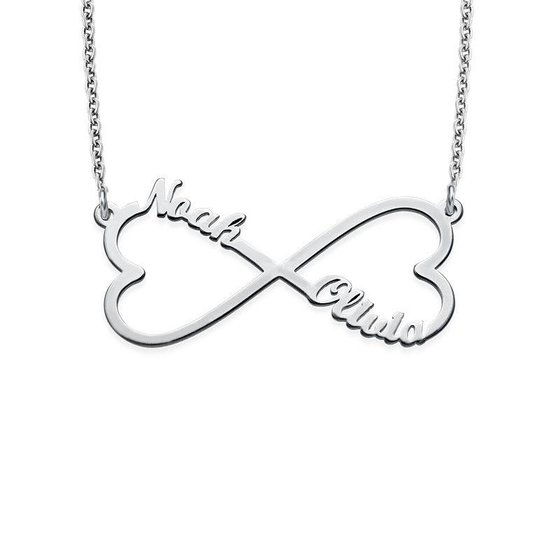 Infinity namnhalsband med hjärta