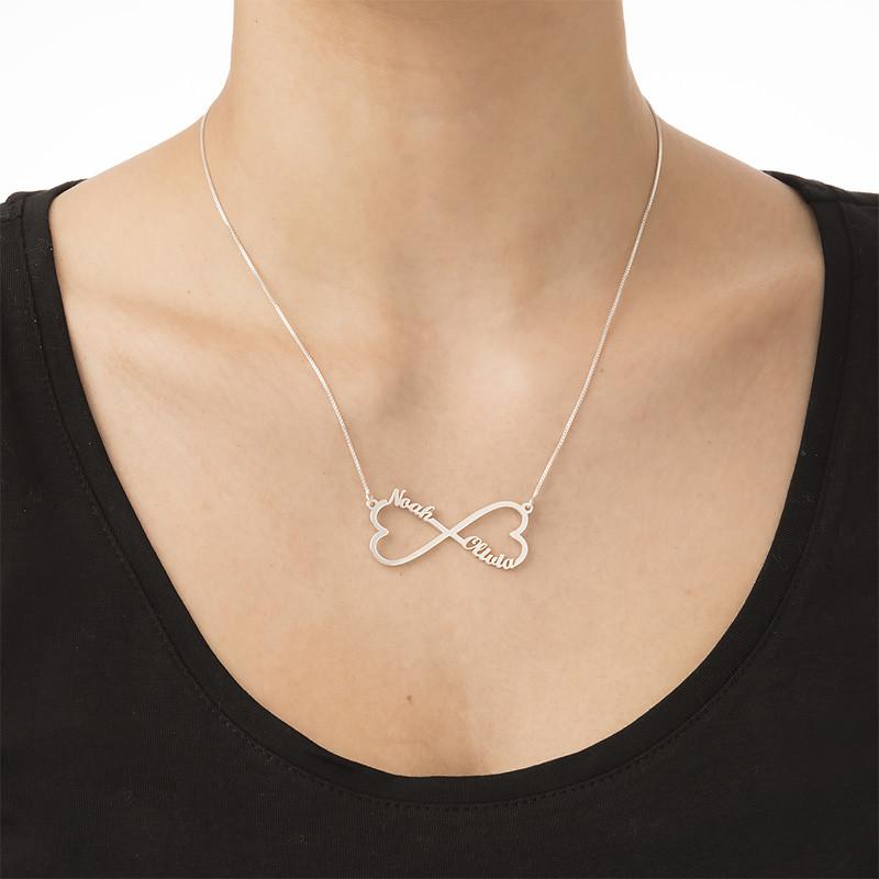 Infinity namnhalsband med hjärta - 1