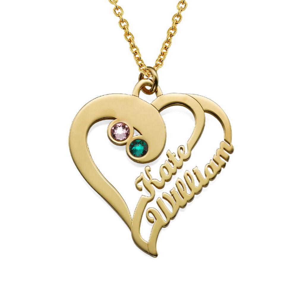 Två hjärtan förevigat i guldpläterat