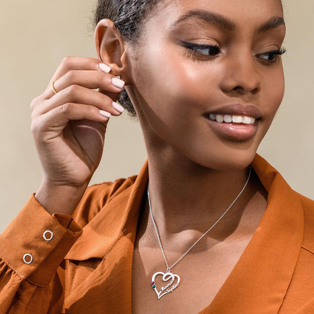 Hjärthalsband med månadsstenar - Min eviga kärlekskollektion - 2