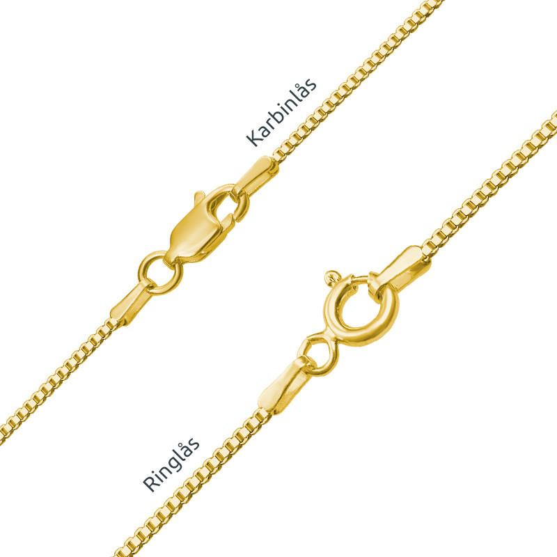 Infinity Namnhalsband med månadsstenar i guldplätering - 3