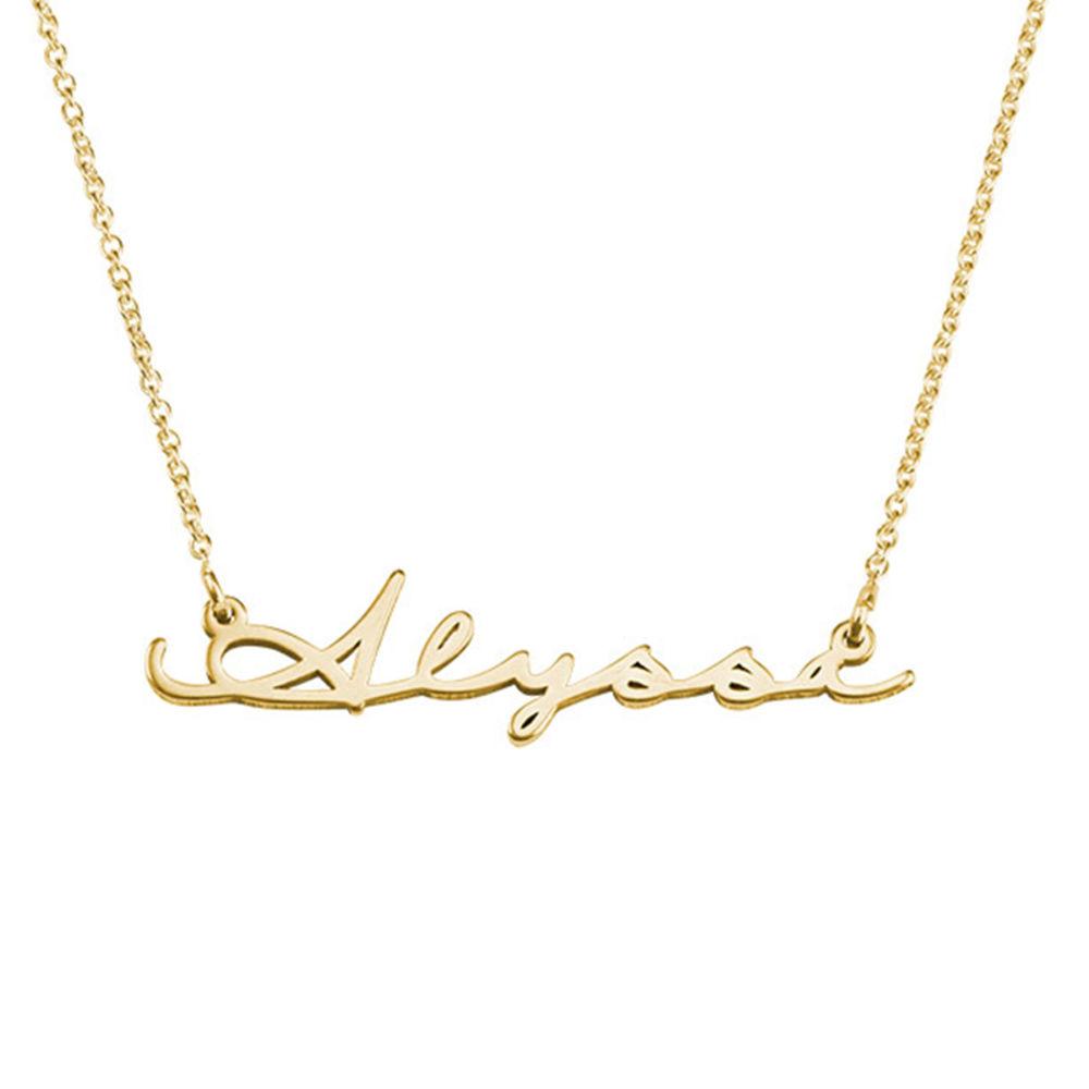 Personligt Handskrivet Namn Halsband - Guld Vermeil