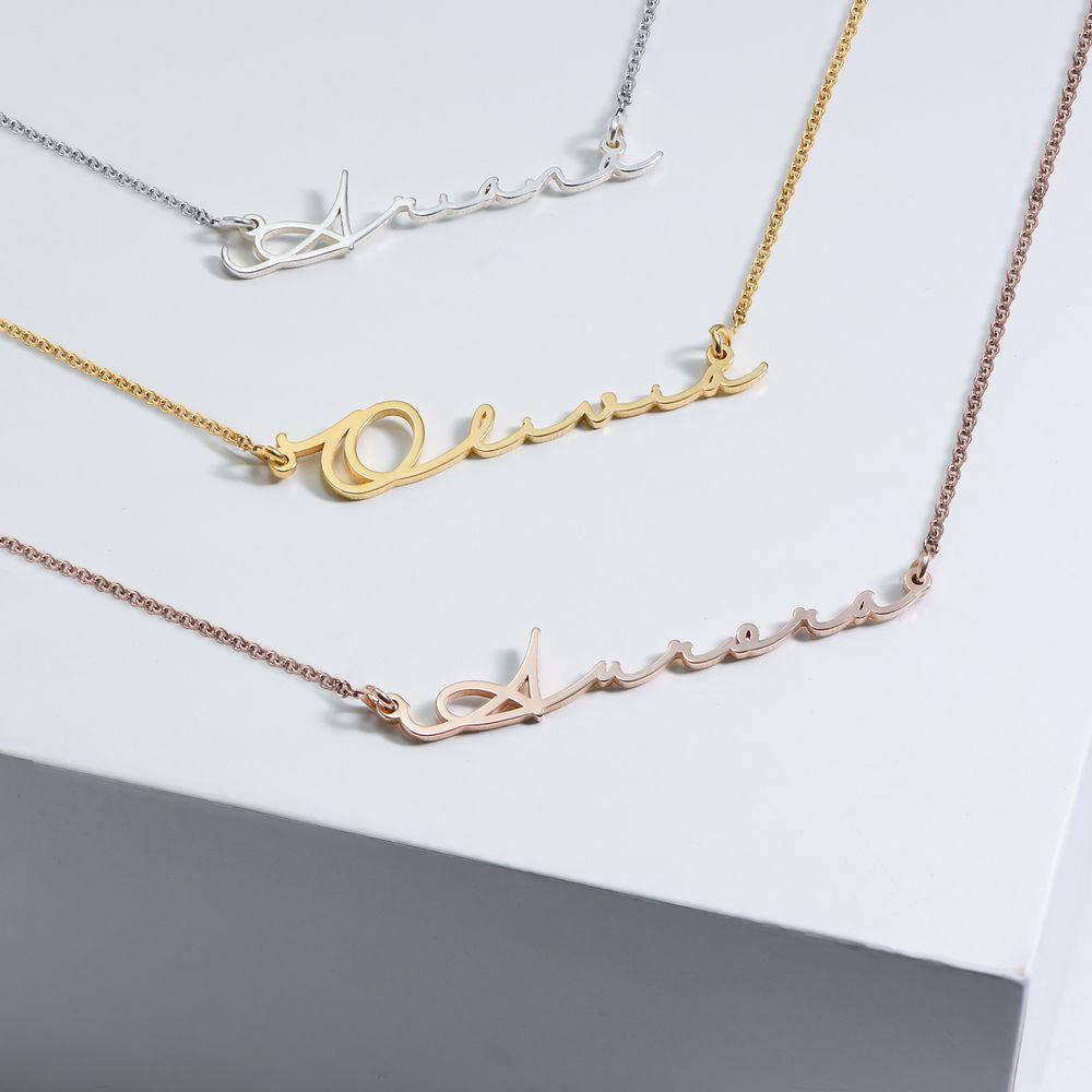 Personligt Handskrivet Namn Halsband - Guld Vermeil - 2