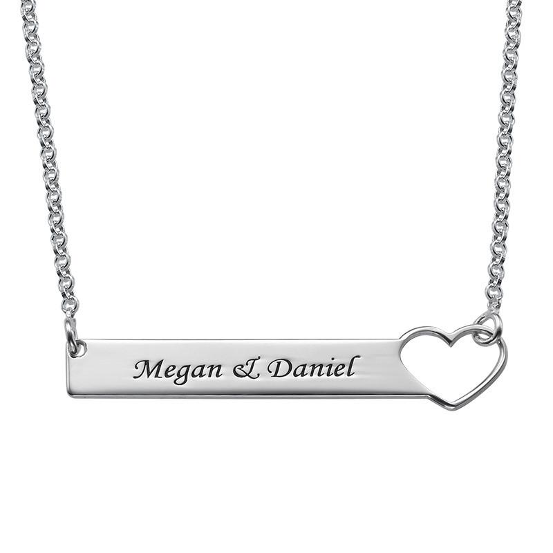 Brick halsband med hjärta  - sterling silver