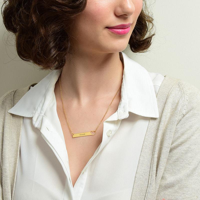 Brick halsband med hjärta  - guldpläterat - 2
