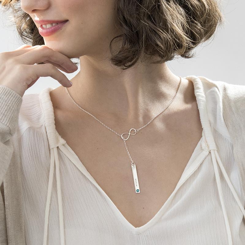 Vertikal brick halsband med infinity smycke - 2