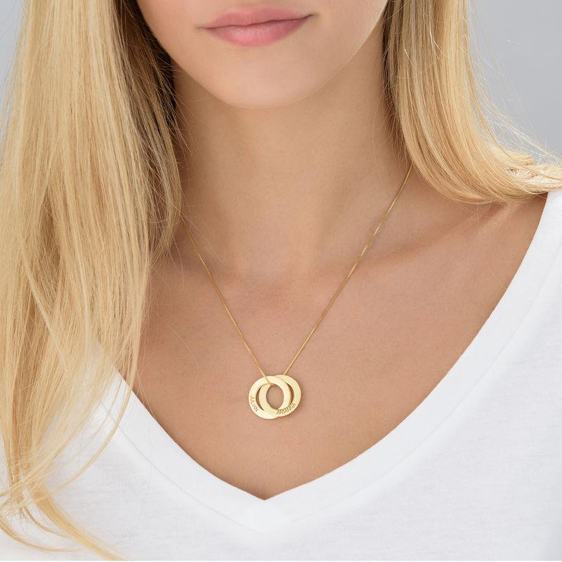 Ryskt ringhalsband med 2 ringar - guld vemeil - 3