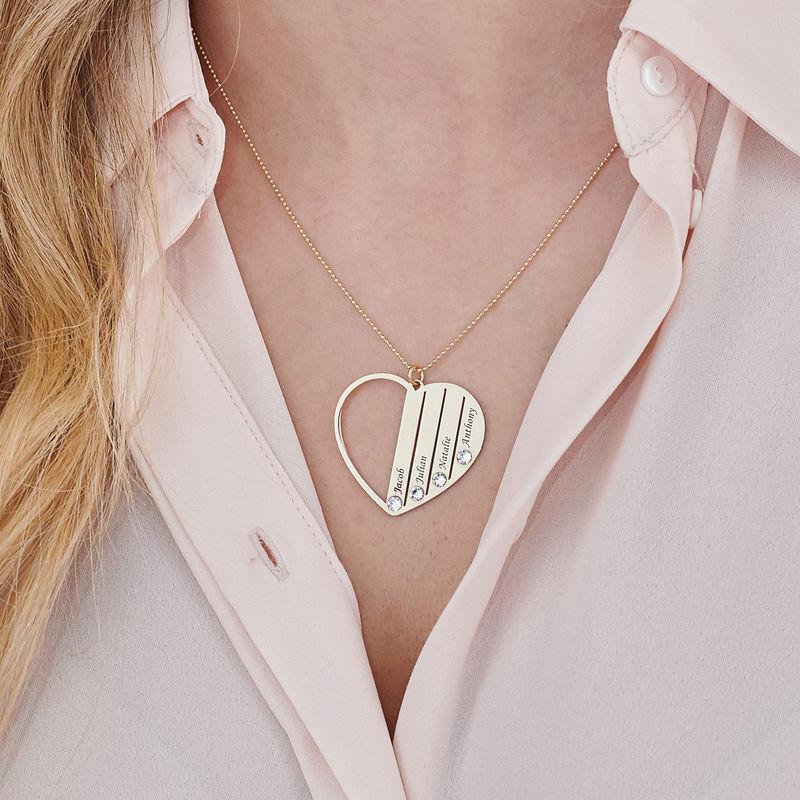 Månadsstenhalsband till mamma i 10K Guld - 2