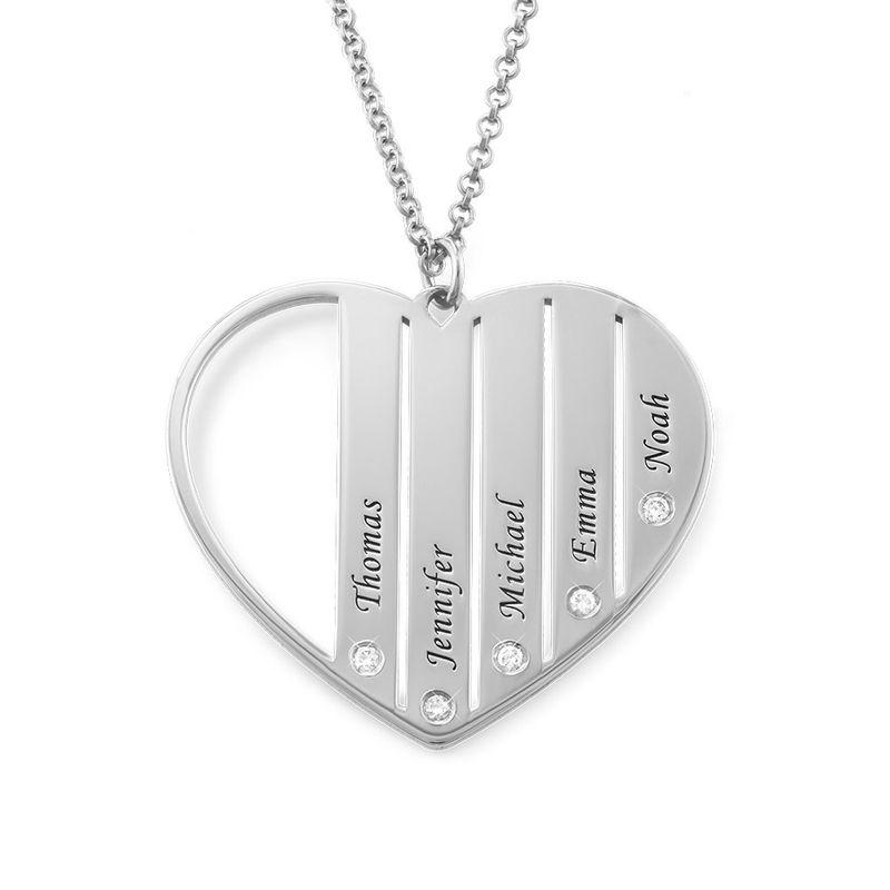 Diamanthalsband till Mamma i Silver - 1