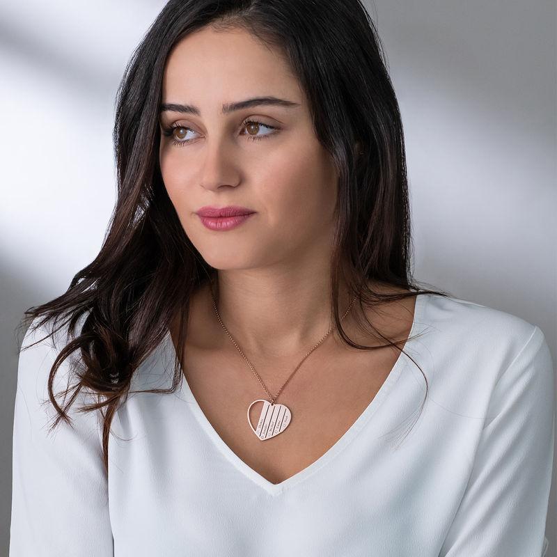 Diamanthalsband till Mamma i Roséguldplätering - 2