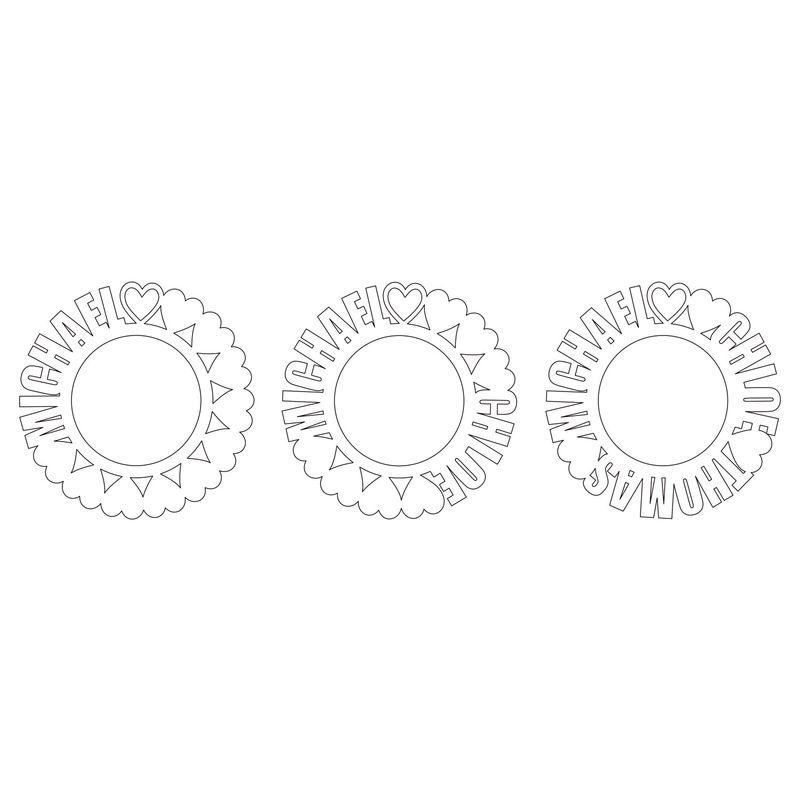 Cirkelhalsband med namn i guldplätering med diamanteffekt - 3