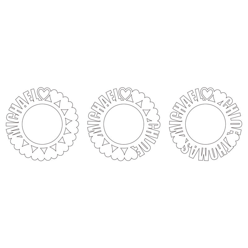 Cirkelhalsband med namn i roséguldplätering med diamanteffekt - 3
