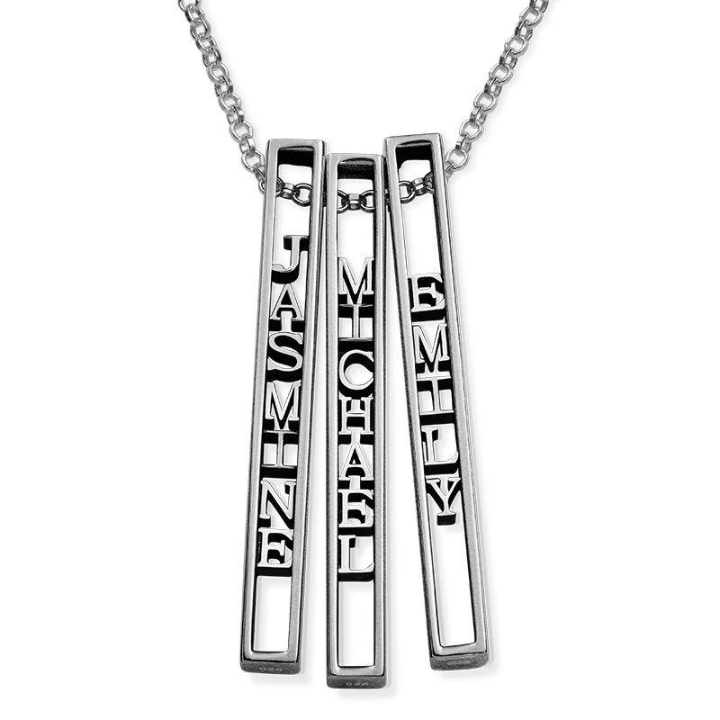 Personligt halsband med namnbricka i 3D i sterlingsilver - 2