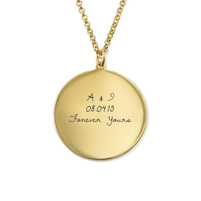 Medaljong med handskriftsgravyr i silver med guldplätering - 1