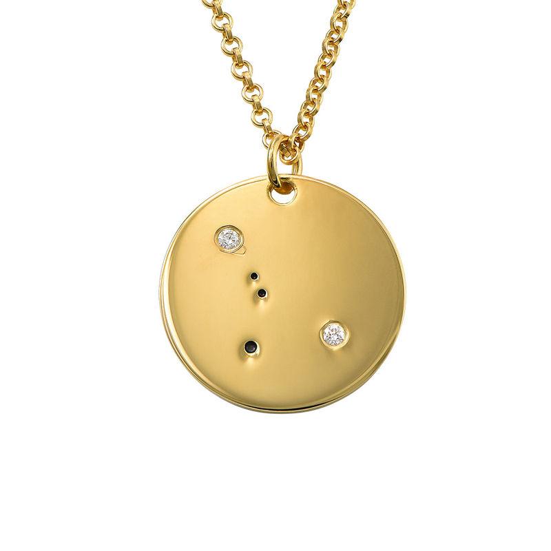 Kräftans stjärnteckenhalsband med diamanter i guldplätering