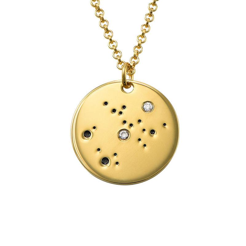 Skyttens stjärnteckenhalsband med diamanter i guldplätering