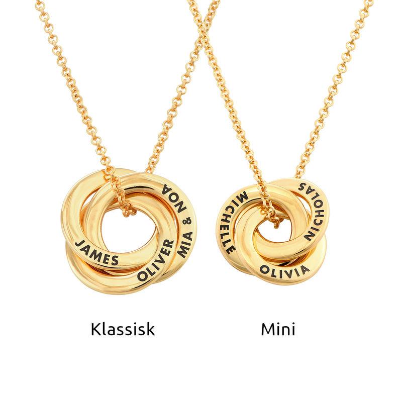 Ryskt ringhalsband i guldplätering - Liten design - 3