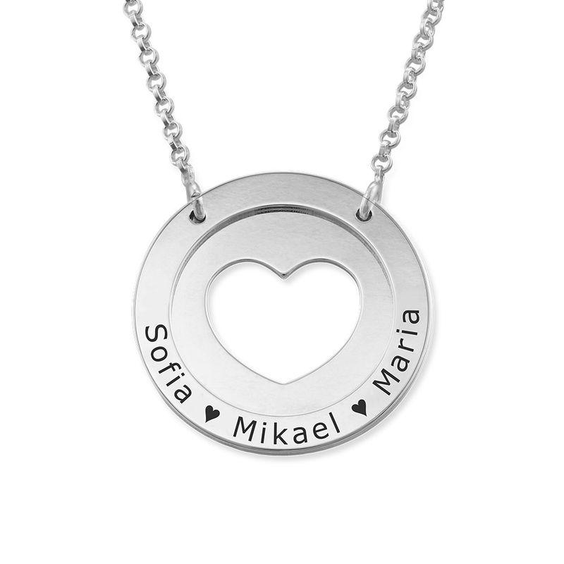 Cirkelhalsband med Hjärta i Silver