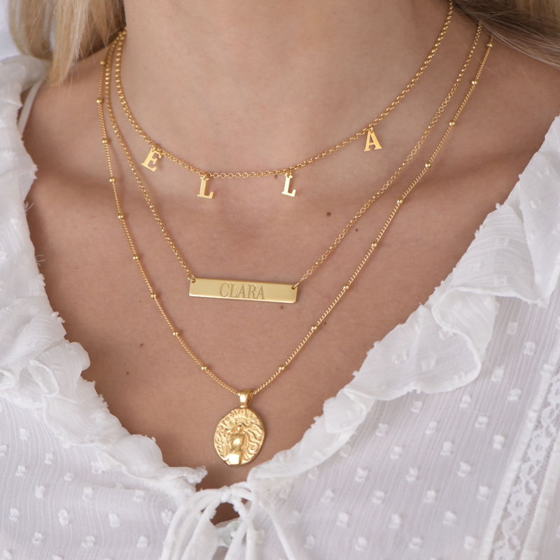 Afrodite Mynt Halsband i Guldplätering - 3