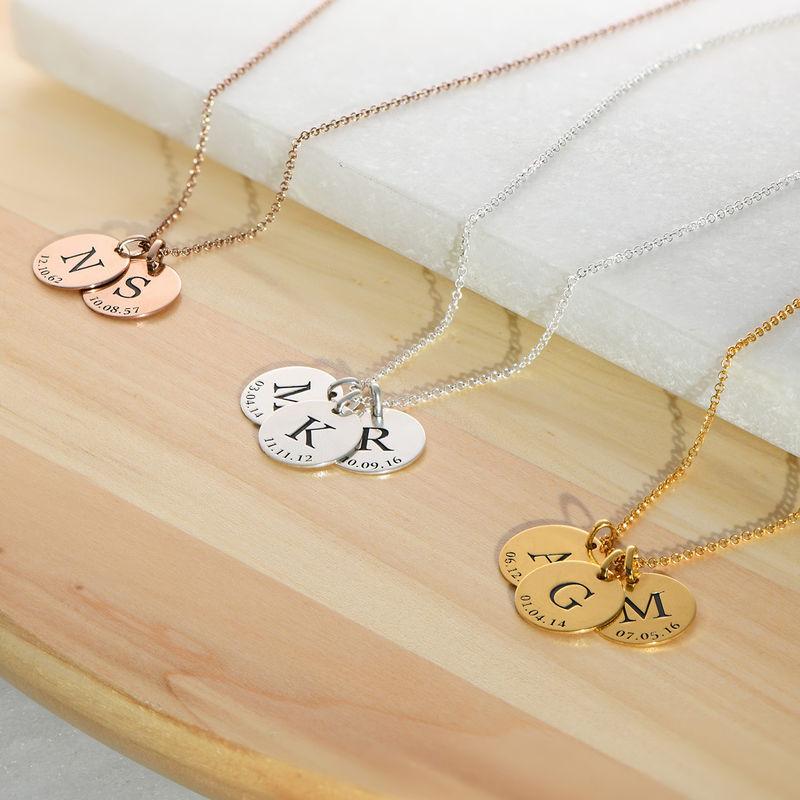 Personlig Bokstav Halsband med Datum i Guldplätering - 2
