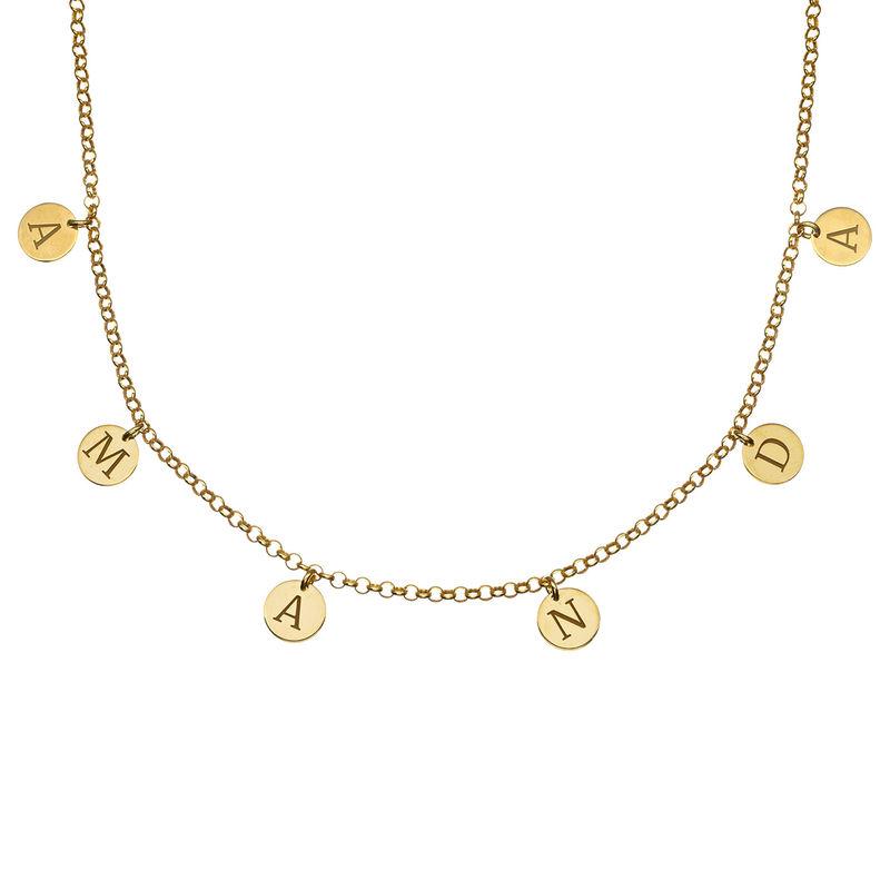 Choker Halsband med Bokstäver i Guldplätering