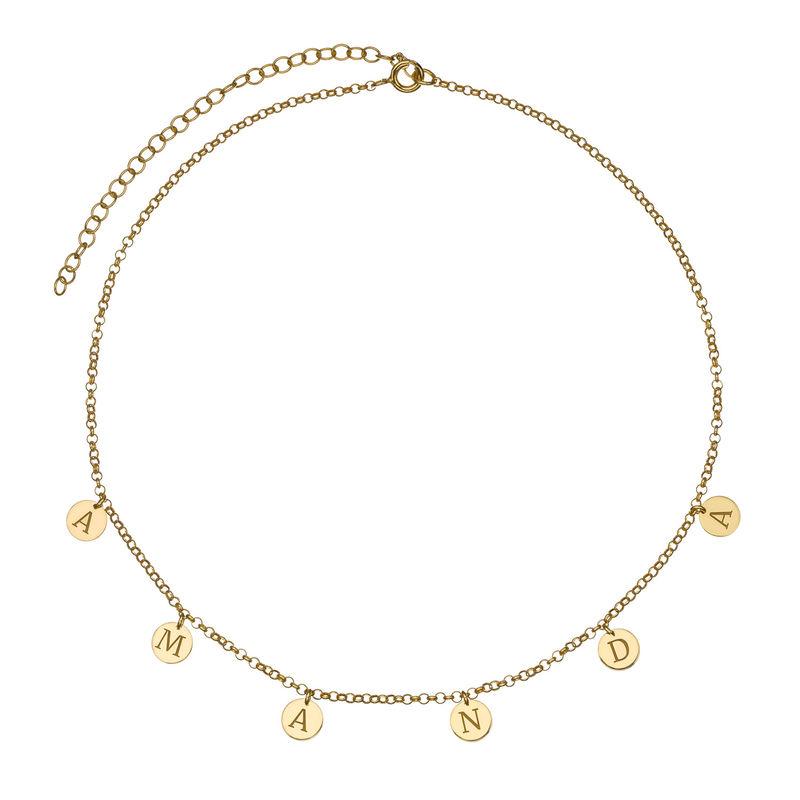 Choker Halsband med Bokstäver i Guldplätering - 1
