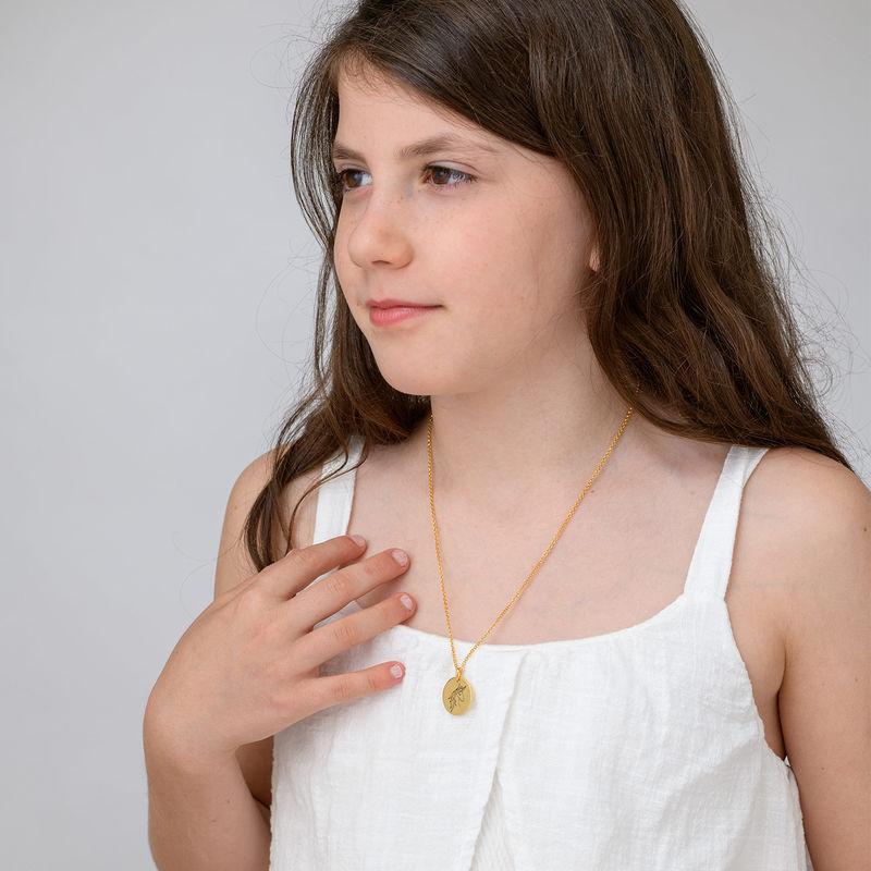 Enhörning Halsband med gravyr i Guldplätering - 3