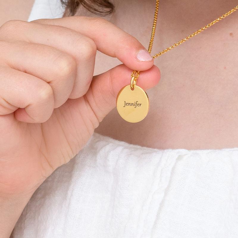 Enhörning Halsband med gravyr i Guldplätering - 4