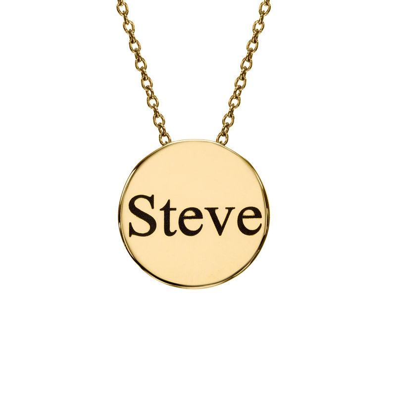 Halsband med Cirkel i Guldplätering