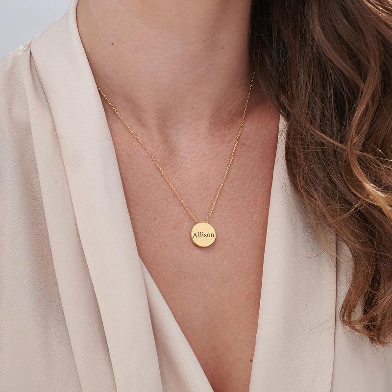 Halsband med Cirkel i Guldplätering - 5
