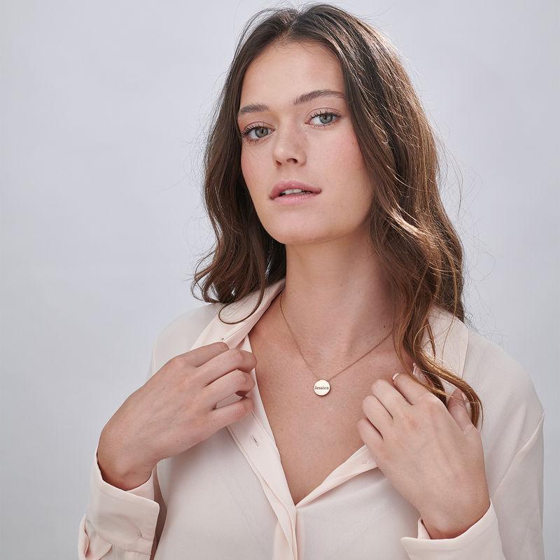 Halsband med Cirkel i Roséguldplätering - 4