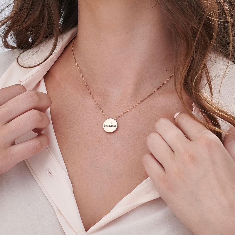 Halsband med Cirkel i Roséguldplätering - 5