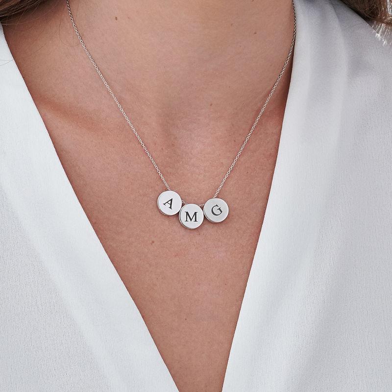 Bokstav Halsband med Cirkel i Sterling Silver - 3