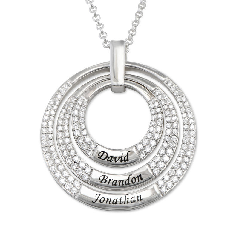 Mamma Halsband med Cirkel i Sterling Silver
